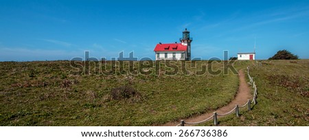 Coastal Trail in Mendocino - stock photo