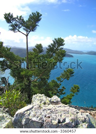 Coastal view (Hamilton island, Queensland, Australia) - stock photo