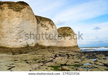 Coastal view of Flamborough, white rocks
