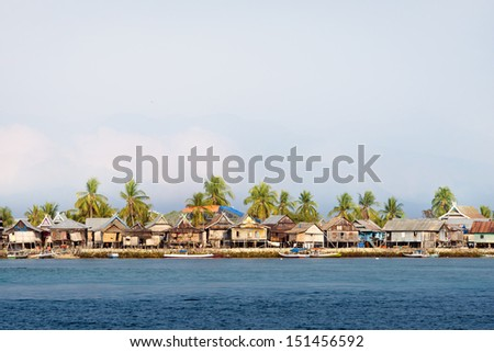 Coastal Village on the sea of Flores, Indonesia