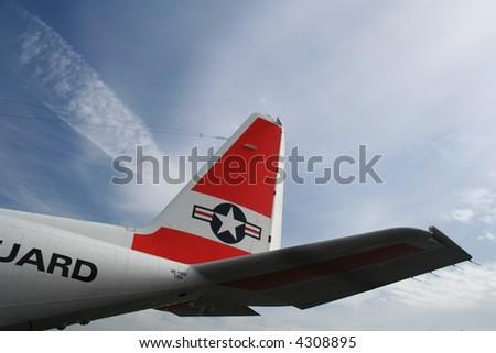 coaste guard rescue plane - stock photo