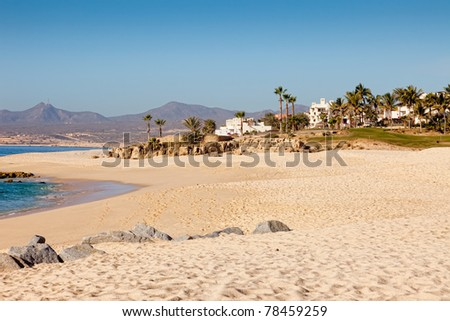 Coastline and Beach in Cabo San Lucas, Mexico