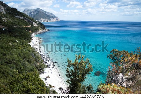 Coastline at Cala Gonone Sardinia