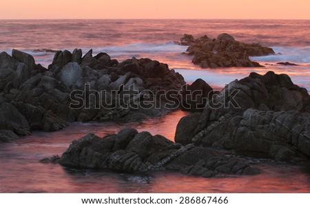 Coastline, Big Sur, near Monterey, California, USA - stock photo