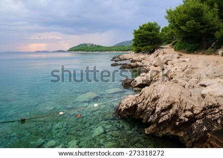 Coastline in croatia - stock photo