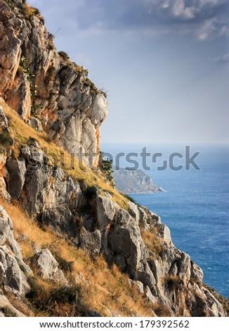 Coastline in Greece - stock photo