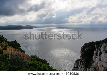 Coastline near Capo Caccia after the storm