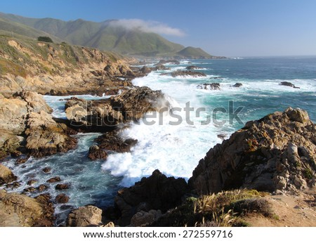 Coastline of Big Sur, California, USA - stock photo