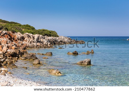 coastline of the island Crete, Greece - stock photo