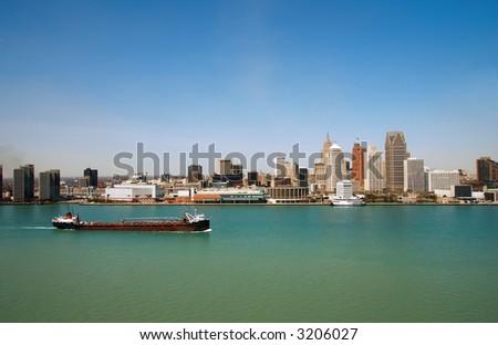 Coastline panoramic view - stock photo