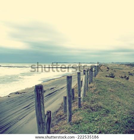 Coastline-Retro photo image. - stock photo