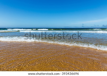 Coastline with waves