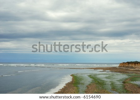 Coastlines before the storm (Oleron /France) - stock photo