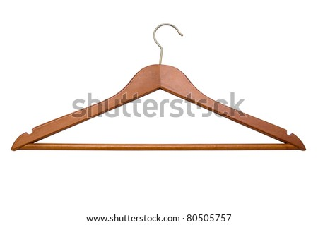 Coat Hanger, background is pure white, no shadows - stock photo