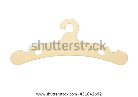 Coat Hanger For Baby's Clothes Isolated on White (With Clipping Path) - stock photo