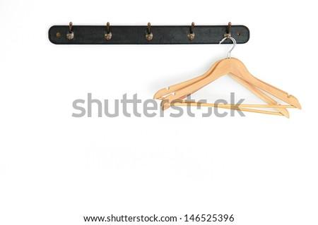 coat hanger on white background - stock photo