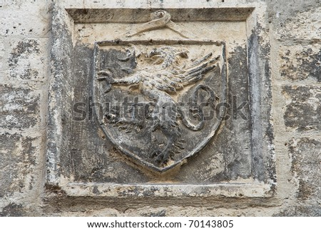 Coat-of-arms. - stock photo