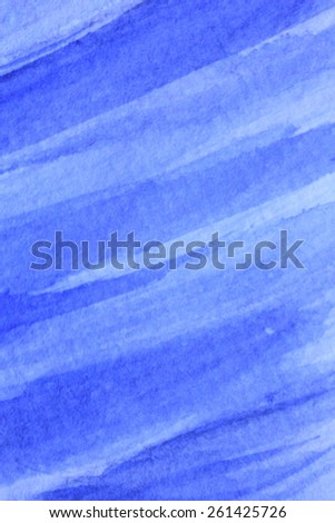 Cobalt Blue Hue Watercolor Background 1 - stock photo