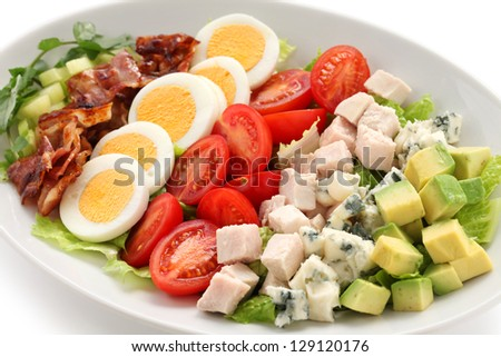 cobb salad - stock photo