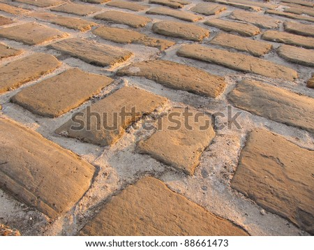 cobbled path - stock photo
