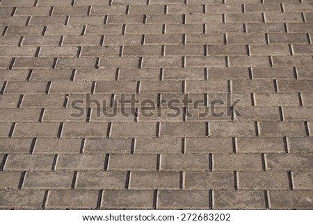 cobblestone pavement on a square - stock photo