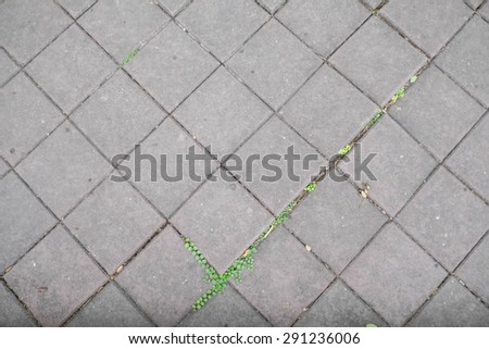 cobblestone road - pattern - background - stock photo