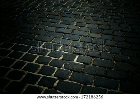 cobblestoned pavement background  - stock photo