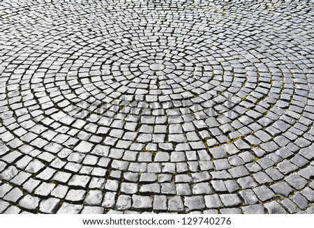 Cobblestones ( Palace Square in Saint Petersburg, Russia) - stock photo