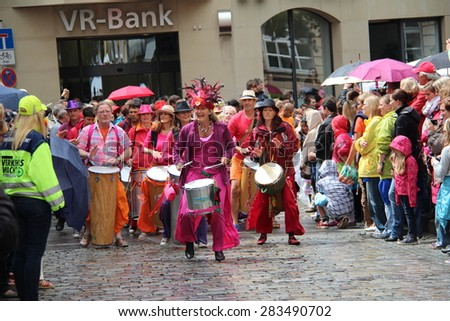 COBURG, GERMANY - JULY 15, 2012: Coburg, Germany: an annual festival of samba in Coburg, Germany.