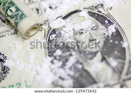 Cocaine Addiction - stock photo