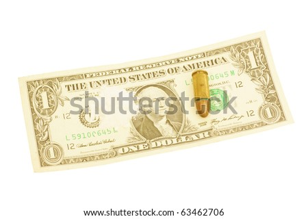 Cocaine Dollars Bullit Symbol Drugs War Stock Photo Royalty Free