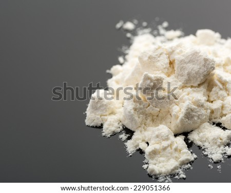 Cocaine on grey - stock photo