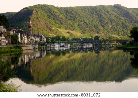 Cochem early morning - Mosel, Germany - stock photo