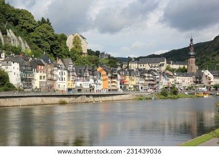 Cochem region at the heart of romantic Moselle Valley, Rhineland-Palatinate, Germany. - stock photo