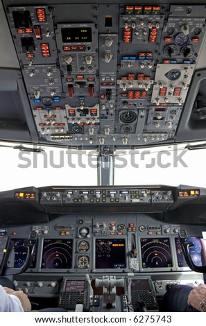 cockpit inside(the window is isolated) - stock photo