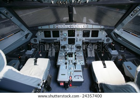 Cockpit of a Boeing