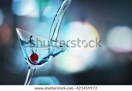 Cocktail. - stock photo
