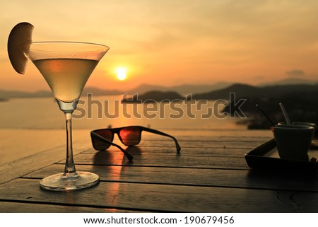 Cocktail at Sunset