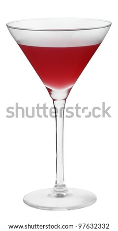 Cocktail cointreau cosmopolitan - stock photo