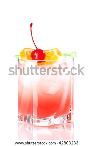 Cocktail collection: Tampico. Isolated on white background - stock photo