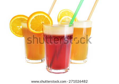 cocktail drink  from various fruits and berries