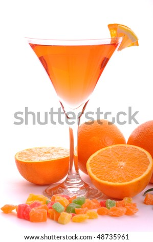 Cocktail drink in martini glass - stock photo