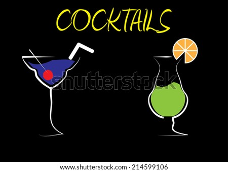 Cocktail Drinks Background