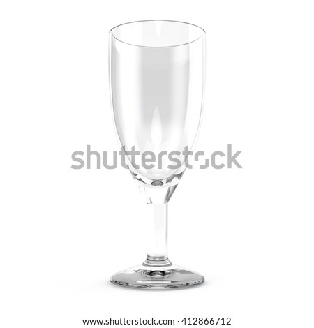 Cocktail Glass - Most popular cocktail and wine glasses. Isolated on white background 3d illustration