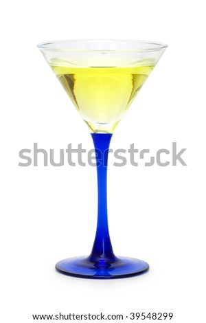 Cocktail isolated on the white background - stock photo