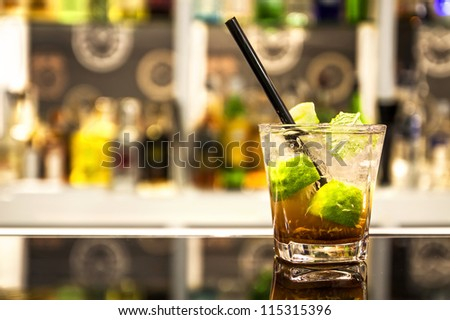 Cocktail mojito - stock photo