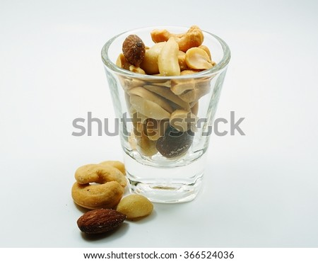 Cocktail nuts - 1  - stock photo