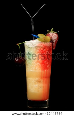 Cocktail on black background