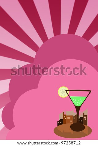 Cocktail party invitation background with space (poster, web, leaflet, magazine) - stock photo