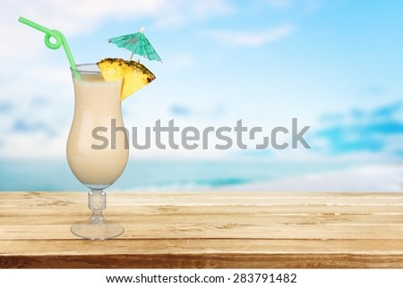 Cocktail, Pina Colada, Drink.